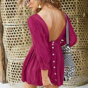 NWT Free People Antigua Mini Dress XS